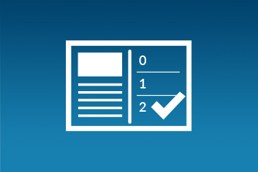 Icon of scored test form